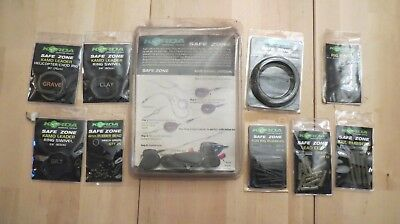 Korda safe zone,rig kit parts, weights,leader,rings,clips,tube,rubbers,Carp