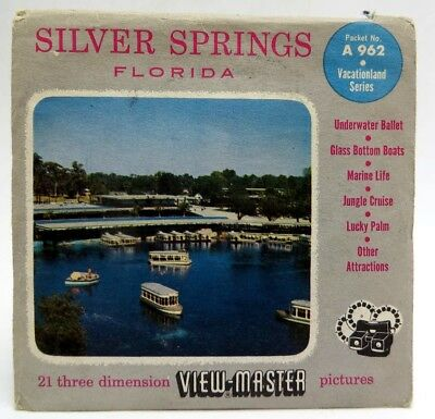 View-Master A962, Silver Springs, Florida, S4 Packet, 1955, 3 Reel Set