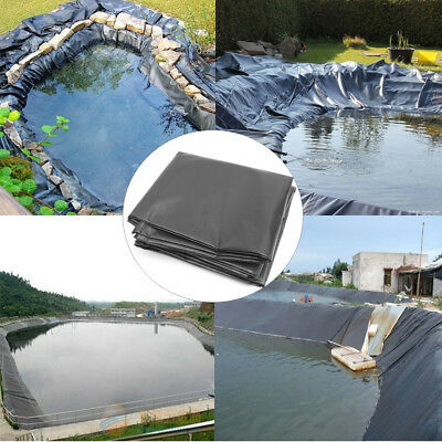 5 Sizes HDPE Poisson Piscine Pond Liner Waterproof Membrane Imperméable Etanche