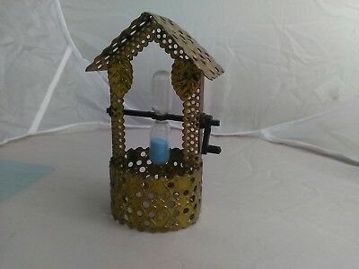 Brass wishing well with egg timer arts- crafts registered design