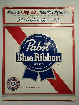 Older Pabst Blue Ribbon  Beer Sign Poster STORE AD PBR! more in other auctions!!