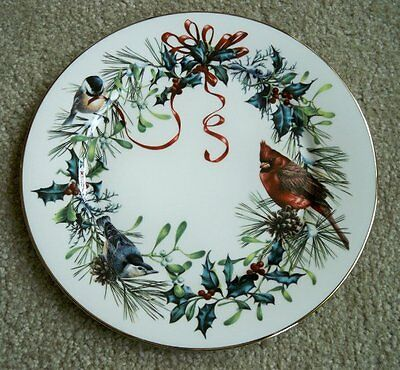 """Lenox WINTER GREETINGS 11"""" Dinner Plate~Cardinal Birds~More Available~NEW w/Tags"""