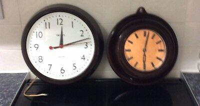 2 Bakelite Smiths Sectric Clocks ++Made In England ++