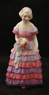 "Beautiful MINIATURE Royal Doulton Figurine: Bridesmaid M30  3 3/4"" tall"