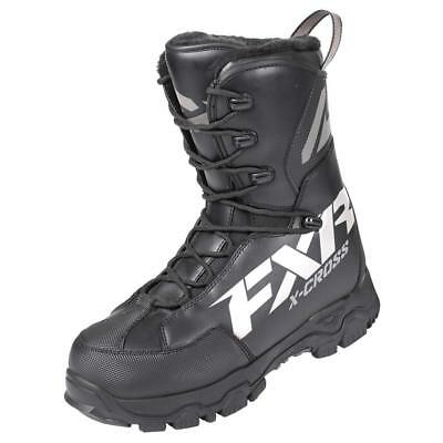 FXR Men's X-Cross Speed Lace Snowmobile Boots - Black White