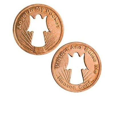 Angel Pennies Guide Me, with Cut-out Angel Pack of 50 Coins