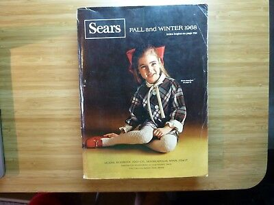 vintage 1968 sears roebuck catalog Fall and Winter 1681 pages