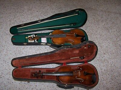 2 Vintage Violins One Is Made By Henry Schwakopf 100 Years Old The Other The