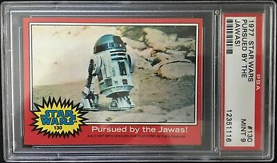 Topps garno PSA 1977 Star Wars Pursued by the Jawas! #130 - Grade 9 MINT
