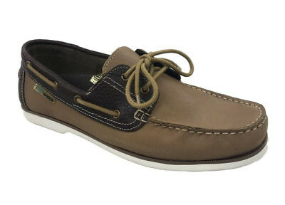 Mens Leather Boat Shoe Lace Up 2 Eye Deck Casual SailingShoe Loafer