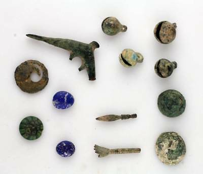 *sc*lot Of Roman & Asian Bronze And Glass Antiquities!!