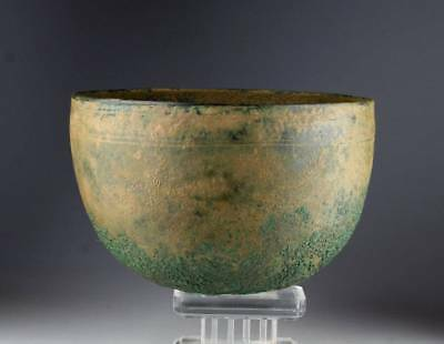 *SC*NICE DECORATED BRONZE FOOD BOWL, ROMAN PERIOD, 1st mill BC-2nd cent AD!!