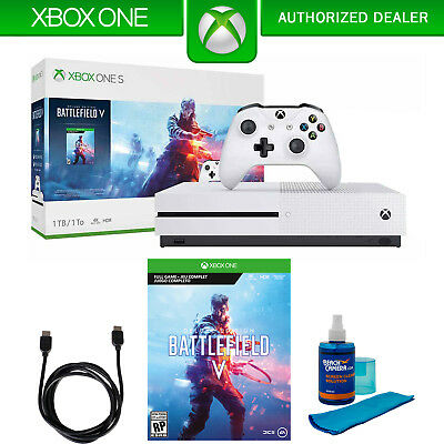 Microsoft Xbox One S 1 TB w/Wireless Controller and Battlefield V Accessory Kit