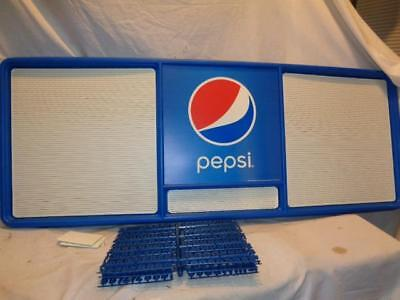 """NEW Pepsi Advertising Menu Board 20""""x50"""" w/ 4 Sets of 3/4"""" Letters & Numbers"""