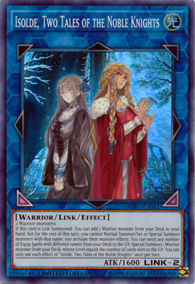 YuGiOh Isolde, Two Tales of the Noble Knights SOFU-ENSE1 Super Rare Promo MINT!!