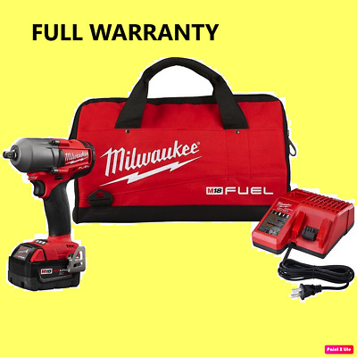 Warranty Milwaukee 2860-21 M18 FUEL 1/2 Mid-Torque Impact Wrench  w/Pin Detent