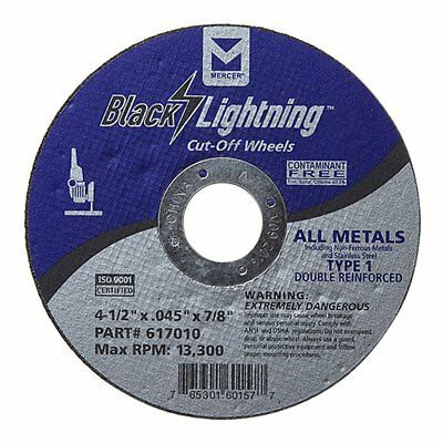 """25 Pack 4.5""""x.045""""x7/8"""" Thin Cut off Disc Metal & Stainless Steel Cutting Wheel"""