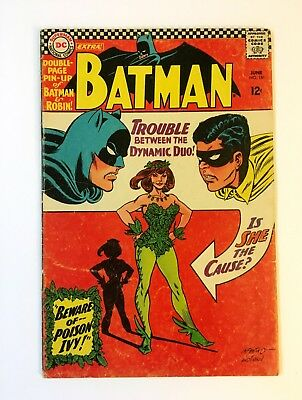BATMAN #181 BEAUTIFUL UNRESTORED 1st App Poison Ivy Complete With Pin-Up!!