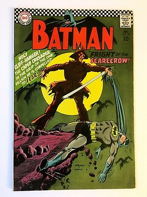 BATMAN #189 BEAUTIFUL UNRESTORED 1st App Silver Age Scarecrow