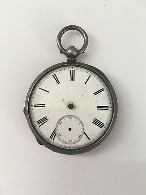 Antique Lacote Geneve Pocket Watch Fine Silver Case Men  20102