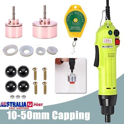 Electric Capping Bottle Machine Caps Handle Manual Sealer Sealing 10-50mm 220V