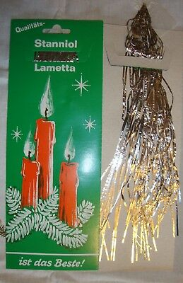 German SILVER Christmas Tree Lead Tinsel Lametta Ornament Vintage Antique Old!!!