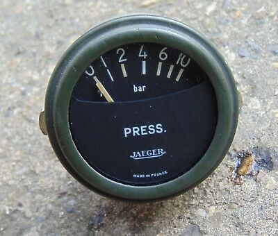 Vintage Jaeger Army Truck Dashboard Pressure Gauge Classic France Cold War