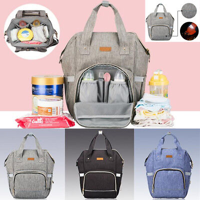 US Multifunction Mummy Changing Baby Nappy Diaper Bag Maternity Travel Backpack