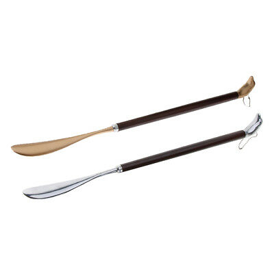 Extra Long Metal Shoe Horn for All Size Shoes Boots with Cute Dolphin Handle