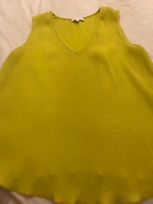 Ladies Next Maternity Lime Pleated Top Blouse Size 14
