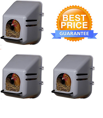 3 Chicken / Poultry nest boxes