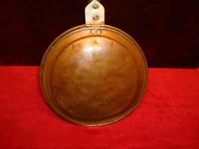 "Antique Copper Bed Warmer Americana C.1890-1900 Total Height 42"" Pan 12"" wide"