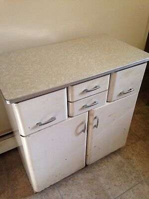 Retro 1950s Mid Century Kitchen Cupboard, Vintage Kitchen Counter