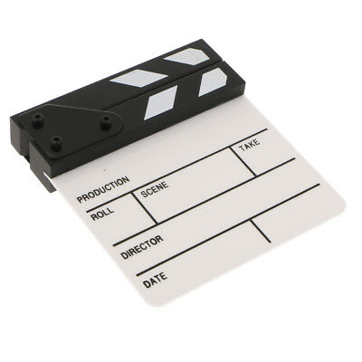 Movie Props Clapper Board TV Microfilm Making Clapboard with Wooden Slate