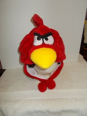 CLEAN  Red Plush Angry Birds Winter Hat Nice And Warm  Size Large