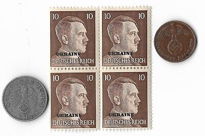 Rare Old German WWII Coin Stamp Great War Unique Collectible Collection Lot us