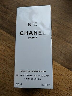 Chanel No 5 Intense Bath Oil - INCREDIBLY RARE - Full Size 250ml - NEW SEALED