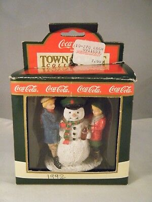 """Coca Cola Figurine - Town Square Collection - """"Thirsty the Snowman"""" - 1992"""