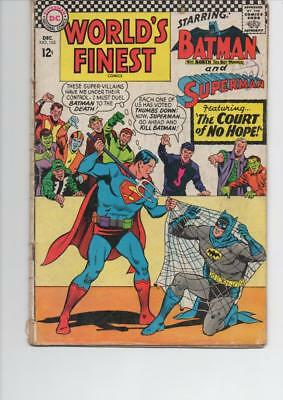 World'S Finest 163 Very Good+ 1966 Dc Silver Age Comic