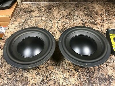 Matched Pair Polk Audio MW8003 Woofers Subwoofer For RT2000P RT20P Speakers