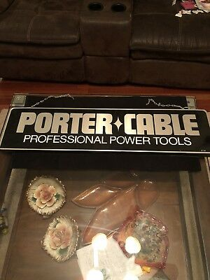 PORTER CABLE  POWER TOOL SIGN DISPLAY for GARAGE, MAN CAVE , Great Shape