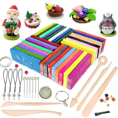 32 Colours Oven Bake Polymer Clay, iFergoo DIY Modelling Clay Kit with 5pcs Mode