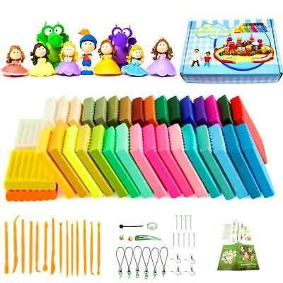 36 Colors Oven Bake Clay Safe and Nontoxic Soft DIY Modelling Moulding Craft Set