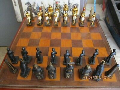 Chess Set (No Board) Depicting EGYPTIAN