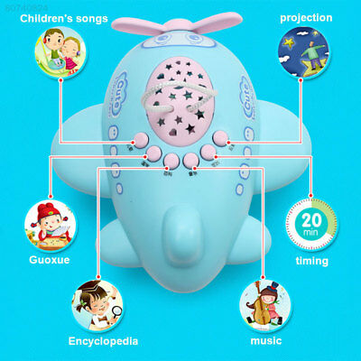 0BE5 Baby Infant Children Music Story Projector Light Night Lamp Appease Plane T
