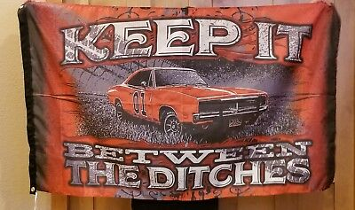 Mopar Flag Racing 3x5ft Dodge Auto Sign Banner Car Dukes of Hazzard Challanger