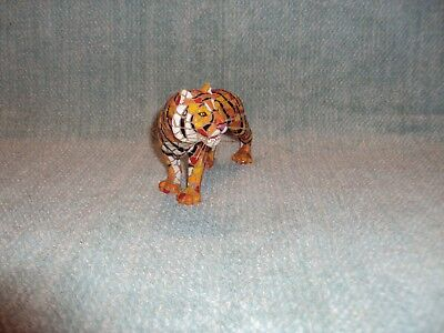 Mosaic Design Eye Of Tiger Figurine Figure Statue Tigre Zoo Animal Cat Species