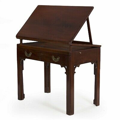 18th Century English Georgian Mahogany Architect's Desk Writing Console Table