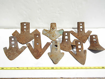 Vintage Sweep Shovel Plow Blade Lot of 9 Farm Implement Cultivator Steampunk