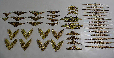 43 Pcs VTG Victorian Style Ornate Corners  Applique Frame Trim Ormolu ? Style